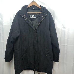 Andy John Vintage quilted puffer Jacket Black